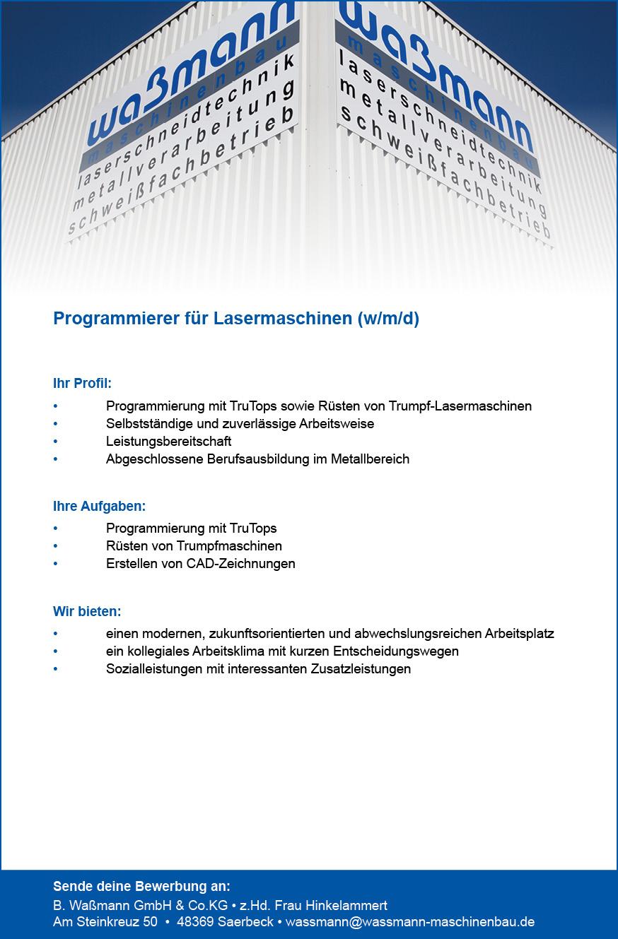 180255 Waßmann_Anz_Programmierer für Lasermaschinen